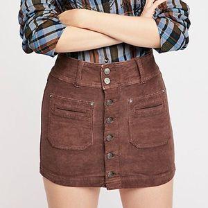 Free People NWT Cord Skirt